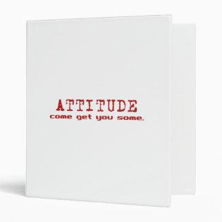 Carpeta del rojo de la actitud
