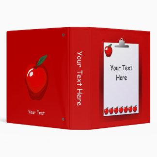Carpeta del rojo del tablero de las manzanas del