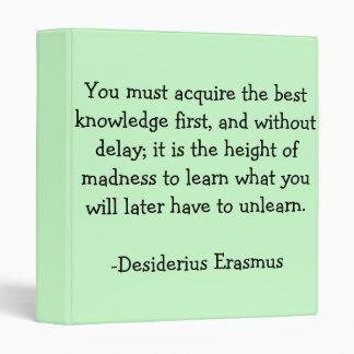 Carpeta del siglo XV de la sabiduría de Erasmus