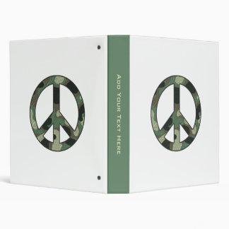 Carpeta del signo de la paz del camuflaje