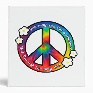 Carpeta del signo de la paz del teñido anudado