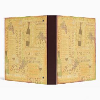 Carpeta del tema del vino