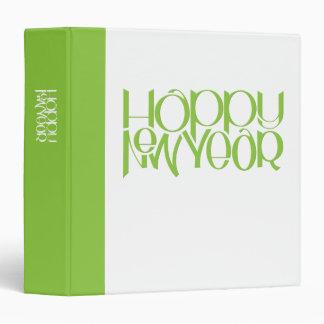 Carpeta del verde de la Feliz Año Nuevo
