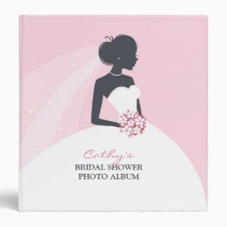 Carpeta del vestido de la novia/álbum de foto