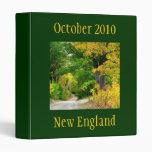 Carpeta del viaje del otoño de Nueva Inglaterra