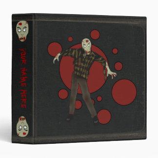 Carpeta del zombi de la imitación de cuero