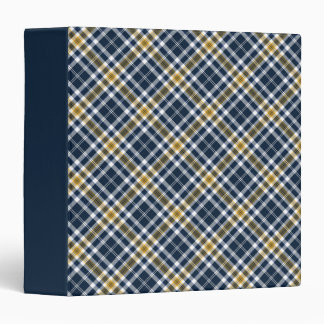 Carpeta deportiva de la tela escocesa de la marina