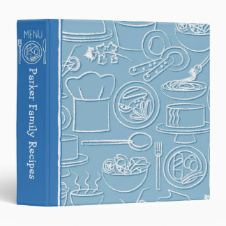 Carpeta dibujada mano azul de la receta