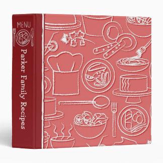Carpeta dibujada mano roja de la receta
