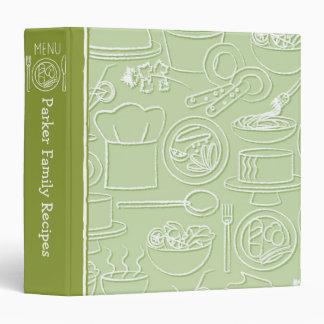 Carpeta dibujada mano verde de la receta