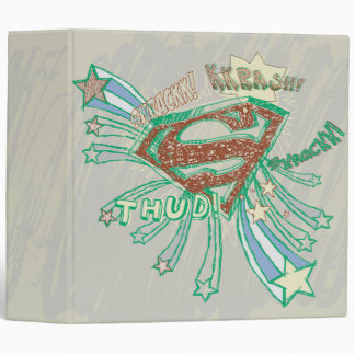 Carpeta dibujada superhombre del logotipo