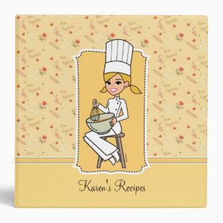 Carpeta dulce de la receta del cocinero de novato