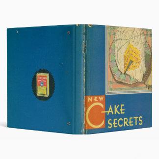 Carpeta elegante de los secretos de la torta de
