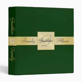 Carpeta elegante del álbum de la familia del verde