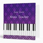 Carpeta elegante del damasco del profesor de músic