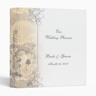 Carpeta elegante del planificador del boda