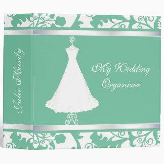 Carpeta elegante del planificador del boda de la v