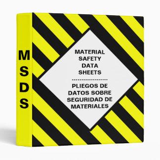 Carpeta en blanco de MSDS
