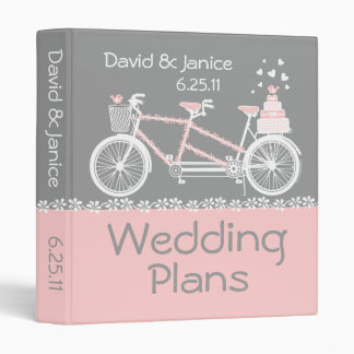 Carpeta en tándem del boda de la bicicleta
