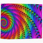 Carpeta espiral del arco iris