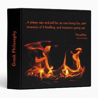 Carpeta eterna del fuego de Heraclitus