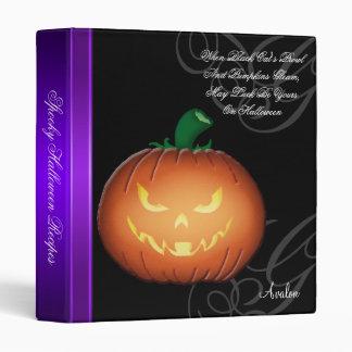 Carpeta fantasmagórica de la receta de Halloween d