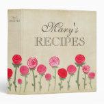 Carpeta femenina del libro de la receta de los ros