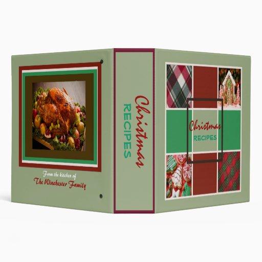 Carpeta festiva de las recetas del navidad