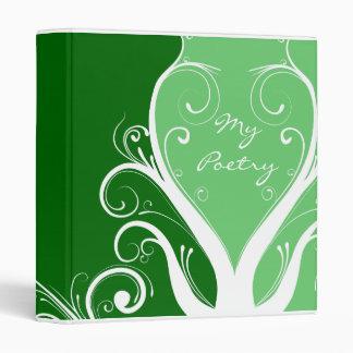 Carpeta floral abstracta de la poesía