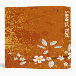 Carpeta floral abstracta (naranja)
