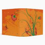 Carpeta floral anaranjada