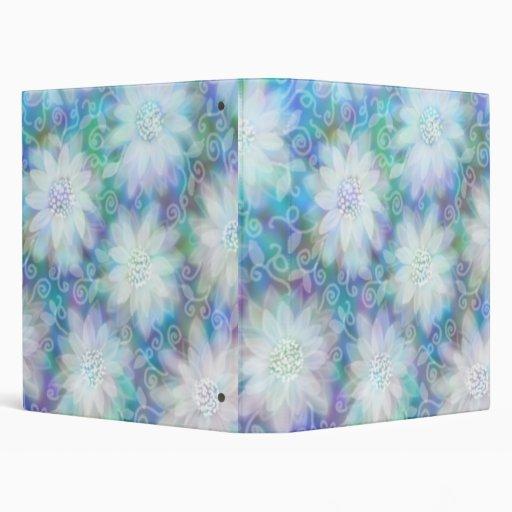 Carpeta floral azul de Avery del cordón