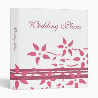 Carpeta floral blanca rosada del planeamiento del