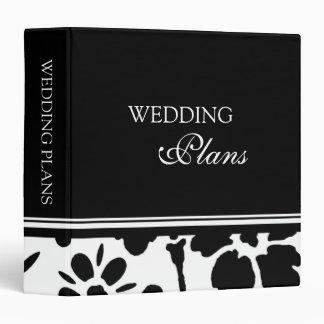 Carpeta floral blanco y negro del planeamiento del