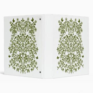 Carpeta floral de Avery del cordón del damasco