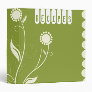 Carpeta floral de la receta