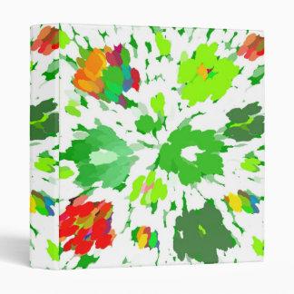 Carpeta floral del arte pop de la acuarela