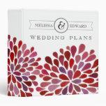 Carpeta floral del planificador del boda de la acu