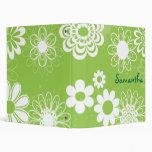 Carpeta floral del verde lima y blanca