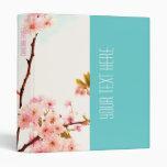 Carpeta floral hermosa con la flor de cerezo