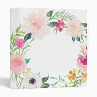 Carpeta floral moderna del blanco de la guirnalda