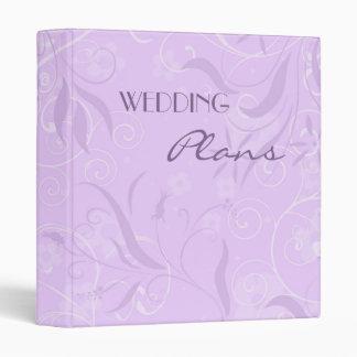 Carpeta floral púrpura del planeamiento del boda