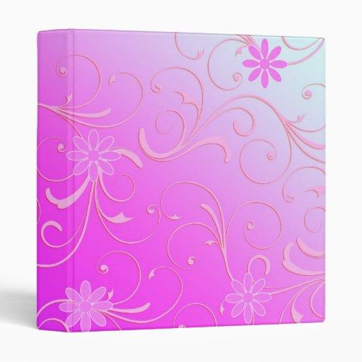 Carpeta floral rosada abstracta de la plantilla