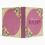 Carpeta floral rosada de la receta