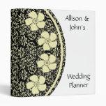 Carpeta floral soleada del planificador del boda d