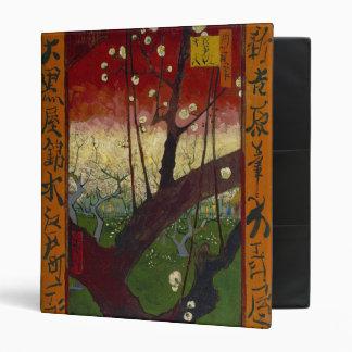 Carpeta floreciente del árbol de ciruelo