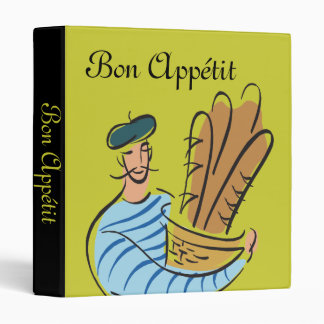 Carpeta francesa de las recetas de Appétit del Bon
