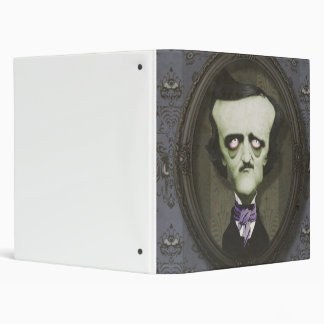Carpeta frecuentada de Edgar Alan Poe del zombi