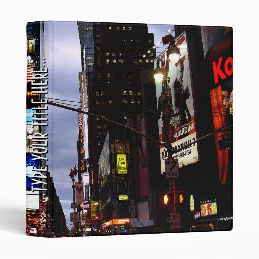 Carpeta fresca del libro del Times Square de la ca