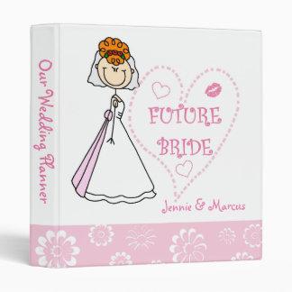 Carpeta futura del planificador del boda de la